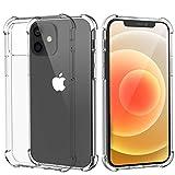 Migeec Hülle Kompatibel mit iPhone 12 und iPhone 12 Pro Transparent TPU Silikon Handyhülle...