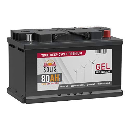 SOLIS Gel Batterie 80AH 12V Solar Boot Wohnmobil Schiff Versorgungs Mover Akku (80AH 12V)