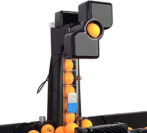 Máquina Automática de Pelota de Ping Pong Tenis de Mesa Robot Multi-rotación, para niños Ping Pong Máquina de Lanzamiento de Lanzamiento automático para Uso en Interiores al Aire Libre
