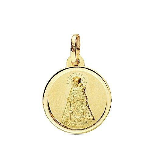 Medalla Oro 18K Virgen Desamparados 16mm. [Ab3429Gr] - Personalizable - Grabación Incluida En El Precio