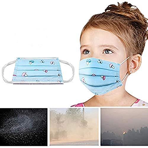 ONLENY 50 Stück 3 Schichten Nasenstreifen Komfortabler Schutz Elastische Ohrbänder Niedlich Geeignet für empfindliche Haut für Jungen Mädchen 3 bis 14 Jahre
