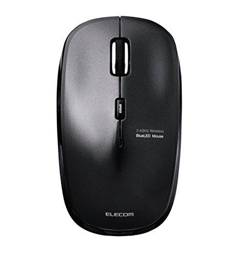 エレコム ワイヤレスマウス 2.4GHz BlueLED 5ボタン 戻る・進むボタン 【ファイナルファンタジーXIV: 新生エオルゼア推奨】 ブラック M-BL21DBBK