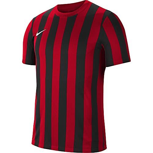 NIKE Camiseta para Hombre Striped Division IV Jersey S/S, Hombre, Camiseta, CW3813-658, Rojo, Negro y Blanco, XX-Large