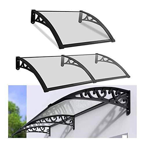 QYQPB Türüberdachungen, Außenüberdachung Und Veranden, Terrassenmarkisen Und Vordächer, Hintere Veranda Garten Markise Vordertüren Fenster Kunststoffdach Regenschutz (Size : 60 * 60cm)