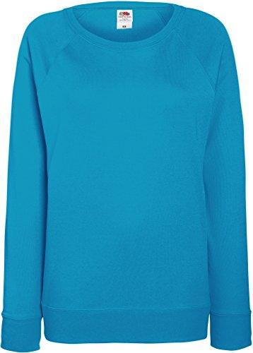Damen Lightweight Raglan Sweat - In vielen tollen Farben Farbe Azureblau Größe XL
