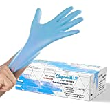 Synthetic Nitrile Blue Disposable Gloves Large -100 PK No Latex Medical Gloves