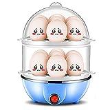 JHKGY Deluxe Rapid Eierkocher Elektro Für Hartgekochtes, Pochiertes, Rührei, Omelett, Gedämpftes Gemüse, Meeresfrüchte, Knödel & Mehr 12 Kapazität,Mit Automatischer...