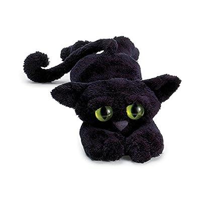 Ojos grandes, adorable y disctinctive Gato de juguete de felpa Felpa suave y sedoso con la gorrita tejida llena patas Delgado cuerpo largo con cola larga Aproximadamente 35 cm de largo