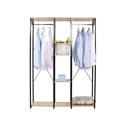 HTI-Line Begehbarer Kleiderschrank Mona XL Kleiderstange Schuhregal Garderobe Offene Garderobe...
