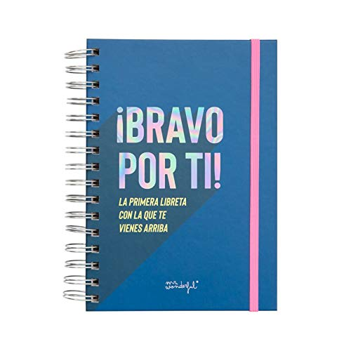 Mr. Wonderful WOA09365ES Libreta con Mensajes positivos-The Powerful Collection