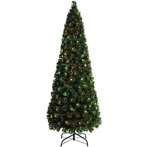 WeRChristmas Pre-Lit Christmas Tree with 290 Fibre Optic Lights, Multi-Colour, 7 feet/2.1 m