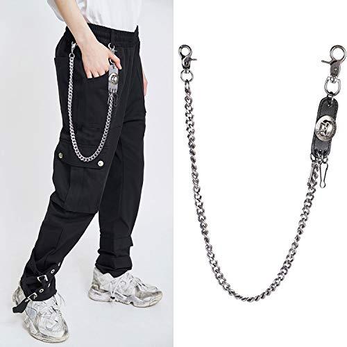 FunPa Jeans Ketting Mode Casual Skeleton Hoofd Decor Broek Ketting Portemonnee Ketting voor Mannen Vrouwen