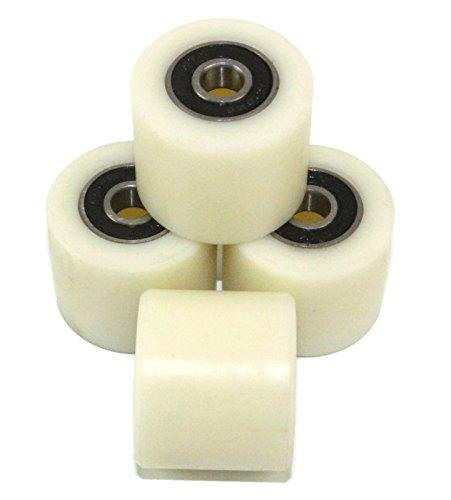 Nylon-Rollen, 4Stück, 35mm Durchmesser, maschinenbearbeitet, verschiedene Breiten, hergestellt in der EU, 30 mm Wide, 4
