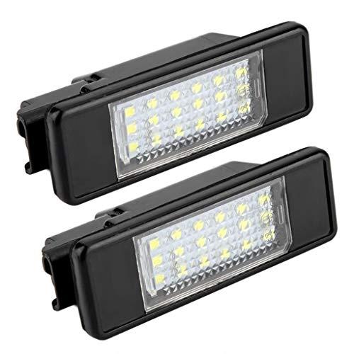 Mikiya nummerplaatverlichting, LED, voor Citroen C2 C3 C4 C5 C6 DS3, voor Peugeot 106 207 307 308 406 407 508 1007 3008