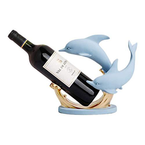 YIBOKANG Estantes de Vino Dolphin Wine Rack Decoración de la decoración del hogar Decoración del Vino Decoración de la decoración Creativa Moderna Simple para el hogar Nuevo Regalo de casa