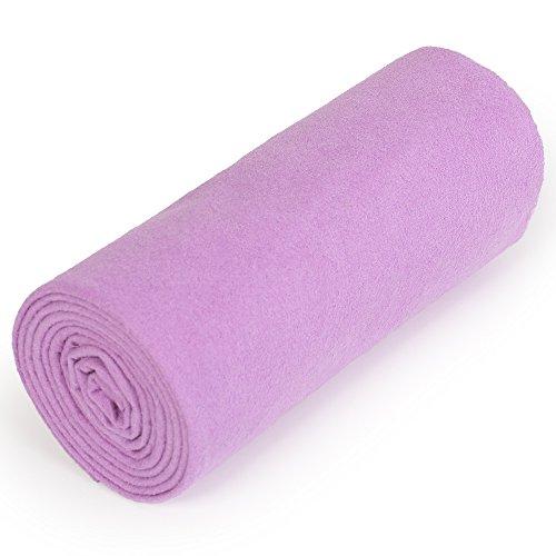 nu:ju® Serviette de sport/fitness, serviette de voyage en microfibres argent ionisé, 1 petit lot (50 x 100 cm), Twilight Purple. Légèreté - absorbant - résistant - lavable jusqu'à 95