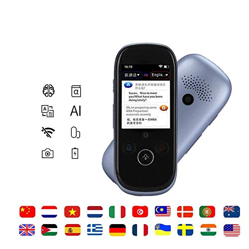 Garsent Traduttore Vocale, 2.4 Pollici Touch Screen WiFi Portatile bidirezionale in Tempo Reale Smart Translator 45 Lingue Photo Translator per Viaggiare, Imparare, Affari.
