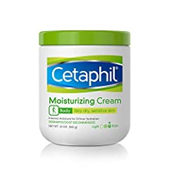 CETAPHIL BODY MOISTURIZING CREAM: Clinically proven to provide immediate and lasting 24 hour relief from dry to very dry skin COMPLETELY RESTORES THE SKIN BARRIER IN 1 WEEK: Binds water to the skin, preventing moisture loss to hydrate and protect ski...