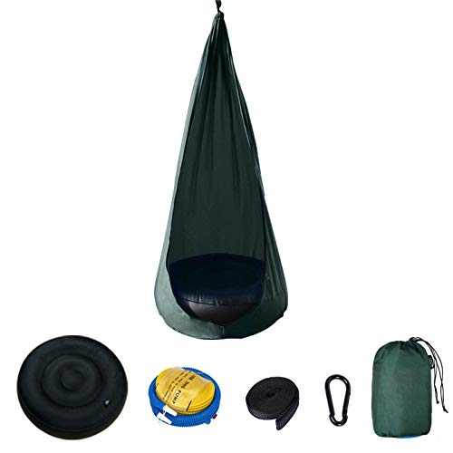 BASA Silla Colgante para niños, Ultraligera, portátil, Tela de paracaídas, tamaño 140 * 70 cm, se Puede Usar en Interiores y Exteriores