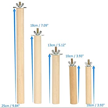 Lot de 2 supports en bois pour cage de 2,5 x 25,4 cm