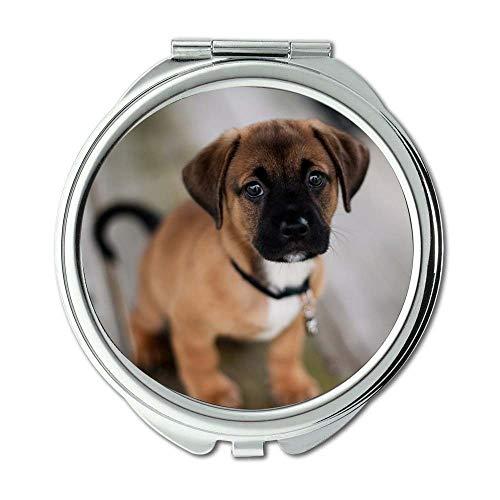 Yanteng Spiegel, Kleiner Spiegel, Welpen Hunde Hund, Taschenspiegel, 1 X 2X Lupe