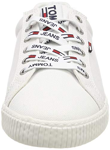 Tommy Hilfiger Tommy Jeans Casual Sneaker, Zapatillas Mujer, Blanco (White 100), 40 EU