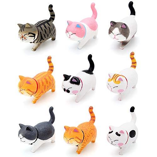 Bemodst Auto Verzierungen Katze Fahrzeug Innendekoration Kätzchen Katze Figuren Geschenke Autoaccessoires (Warm Color)