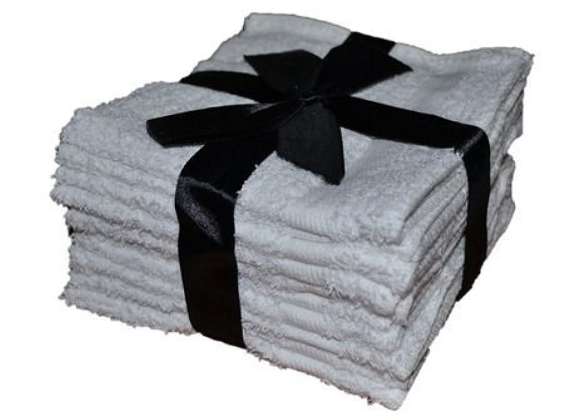 お嬢恐ろしいですスペルDELUXE 100% Cotton WASHCLOTHS, 10pc Set, White by Deluxe