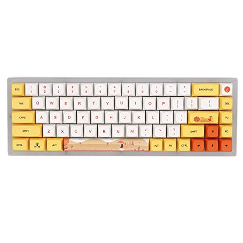 Gateron Brown Switch - Teclado mecánico (68 teclas, con retroiluminación RGB, intercambiable en caliente, para Windows/Mac/iOS/Linux, 60% teclas, conmutador Gateron Brown)