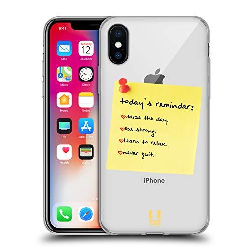 Head Case Designs Recordatorio Nota a sí Mismo Carcasa de Gel de Silicona Compatible con Apple iPhone X/iPhone XS