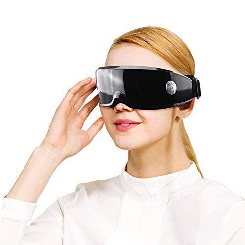 ZWMM USB Augenmassagegerät, Wiederaufladbare Elektromagnet-Vibrationsmassage und 9 Modi Verbessern Sie Stressabbau durch Durchblutung den Einsatz von