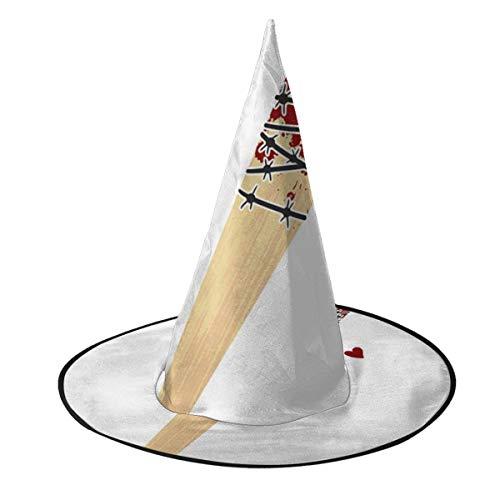 NUJSHF Sombrero de Bruja de Vampiro Lucille Negan Walking Dead, Disfraz Unisex para Vacaciones, Halloween, Navidad, Carnaval, Fiesta