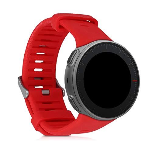 kwmobile Pulsera Compatible con Polar Vantage V - Brazalete de Silicona en Rojo sin Fitness Tracker