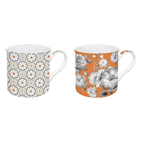 R2S 178TCOB Trend & Colors Coffret 2 Mugs 30 cl Porcelaine Orange 30 x 15 x 15 cm 2 unité(s)