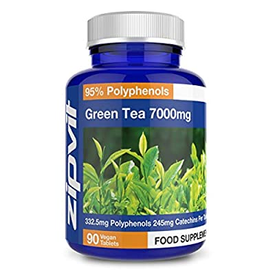 Green Tea Extract 7000mg (High Strength) x 90 Tablets | Antioxidant - Helps Achieve Weight Loss - Made in UK