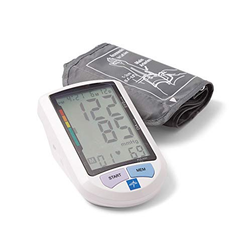"""Medline Automatic Digital Blood Pressure Monitor, Universal Upper Arm Adult Cuff, 8.5""""-16.5"""" BP Cuff Size, Batteries Included, 90 Memory Readings"""