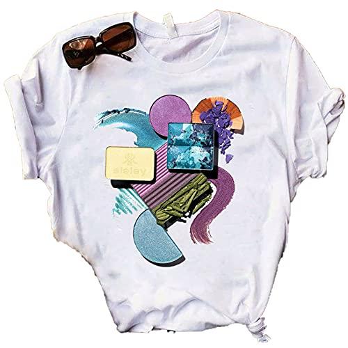 shirts Las mujeres T Impresión Camisetas Verano Ropa Casual De Gran Tamaño T Señoras De Los 90s Moda Gráfico Camisetas Vogue Femenino T