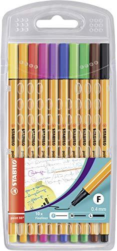 Fineliner - STABILO point 88 - 10er Pack - 10 Standardfarben
