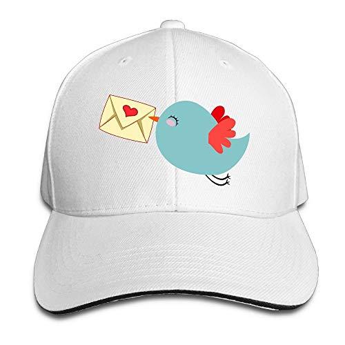 landianguangga Blanco Lindo Cartero Pájaro Moda Unisex Algodón Desestructurado Ajustable Sombreros De Béisbol Ceniza
