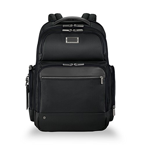 Briggs & Riley @Work Large Laptop Backpack for women and men. Fits up to 17 inch laptop. Business Travel Laptop Backpack with RFID Blocking Pocket, Black