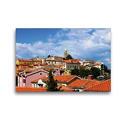 CALVENDO Premium Textil-Leinwand 45 x 30 cm Quer-Format Die Altstadt von Labin (Kroatien), Leinwanddruck von Karen Erbs