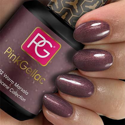 Pink Gellac UV Lack 202 Warm Marsala. Professionelle Gel Nagellack shellac für mindestens 14 Tage perfekt glänzende Nägel