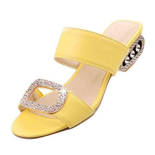 Sandalen Damen Sommer Plateau Keilabsatz Schuhe Wildleder Schuhe Peep Toe High Heel Bequeme Mode Freizeit Wasser Kristall Fisch Mund Sandalen Hausschuhe
