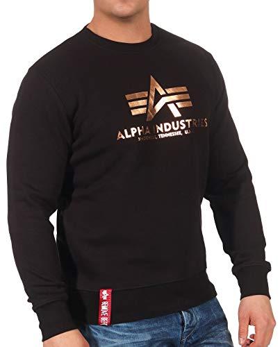 ALPHA INDUSTRIES Herren Basic Sweater Sweatshirt, Dorado, l