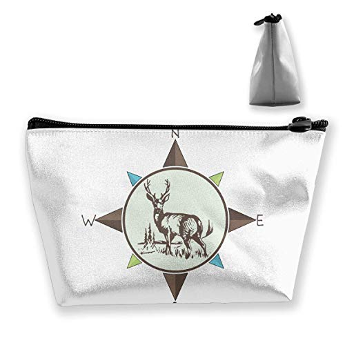 Trapez-Kulturbeutel Tragbare Reisetasche Deer Compass Pen Organizer