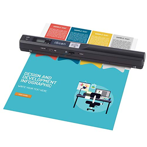 Find Bargain Portable Scanner 900 DPI A4 Document Scanner Handheld for Business,Photo,Picture,Receip...