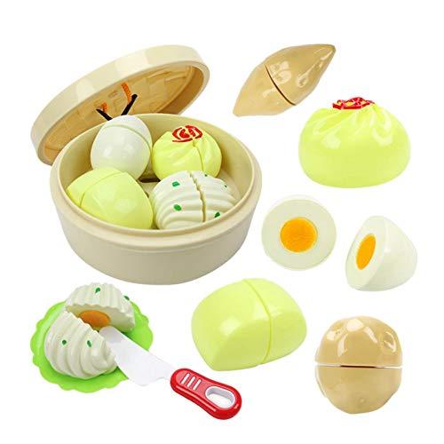 Pequeños Dumplings para niños casas de juegos de simulación de juguetes vaporizador de pan utensilios de cocina