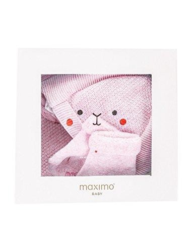 maximo Baby-Mädchen Geschenkset, Tuch, Socken Mütze, Rosa (zartrosameliert 74), 41