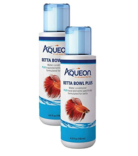 Aqueon 2 Pack of Betta Bowl Plus Water Conditioner & Dechlorinator, 4 Fluid Ounces Each