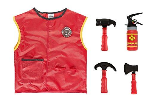 Idena 0951-3 kinderkostuum set brandweer, uniseks, één maat